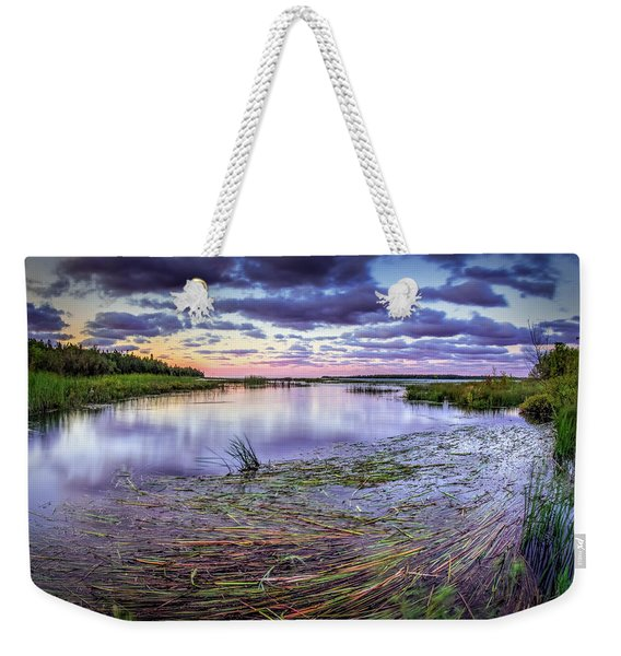 Purple Bay Weekender Tote Bag