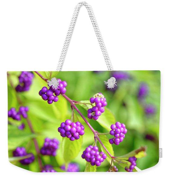 Purple Berries Weekender Tote Bag