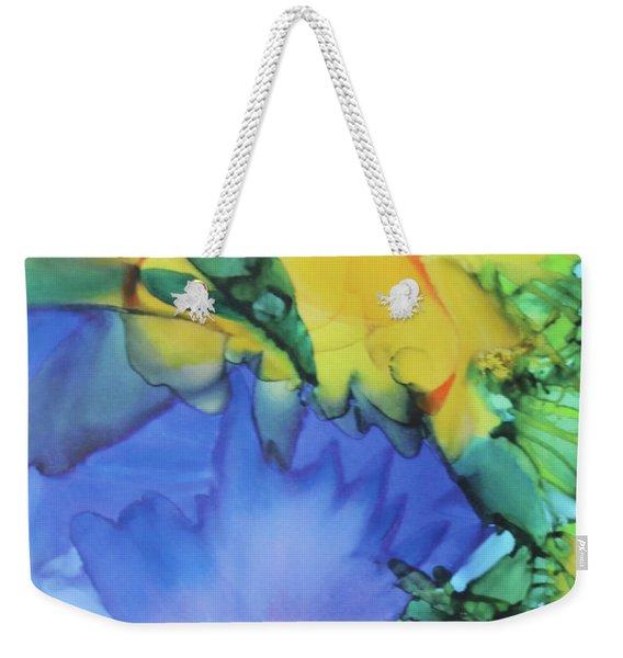 Purple Bird Of Paradise Weekender Tote Bag