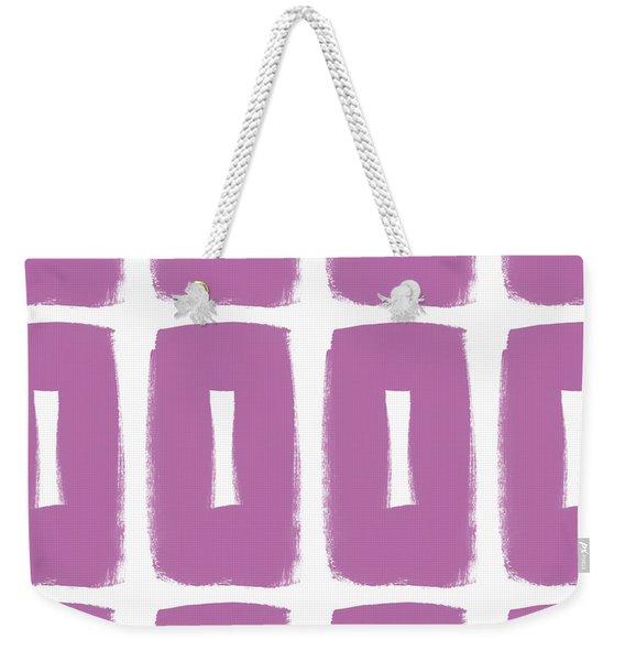 Purple Boxes- Art By Linda Woods Weekender Tote Bag