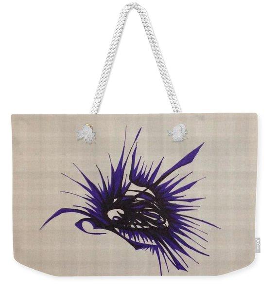 Purple Burst Weekender Tote Bag
