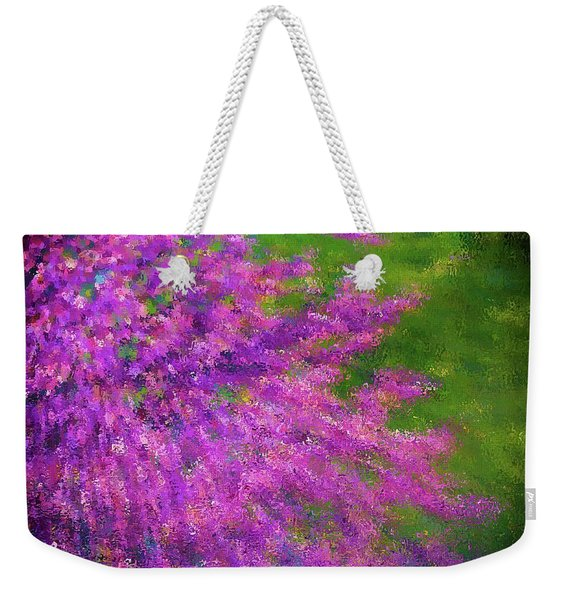 Purple Bush Weekender Tote Bag
