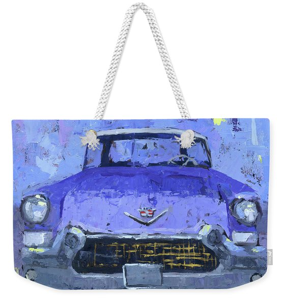 Purple Cadillac Weekender Tote Bag
