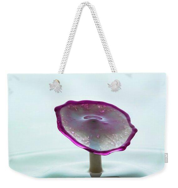 Purple Capped Drop Weekender Tote Bag