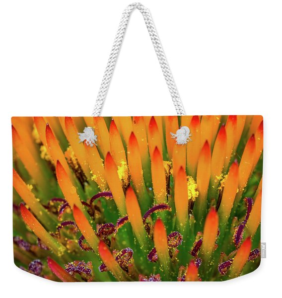 Purple Cone Flower Closeup Weekender Tote Bag