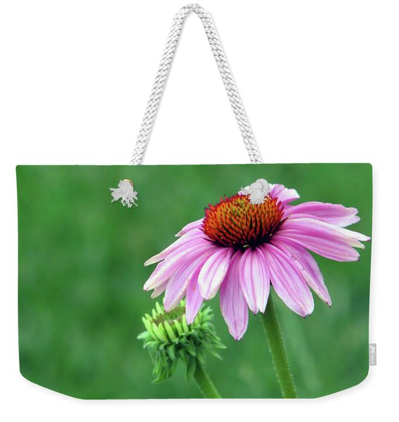 Purple Cone Weekender Tote Bag