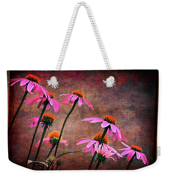 Purple Coneflowers Out Of Alignment  Weekender Tote Bag
