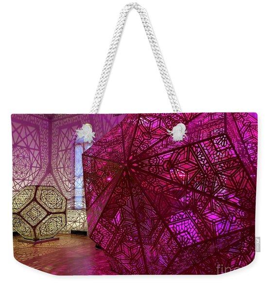Purple Cubes Weekender Tote Bag