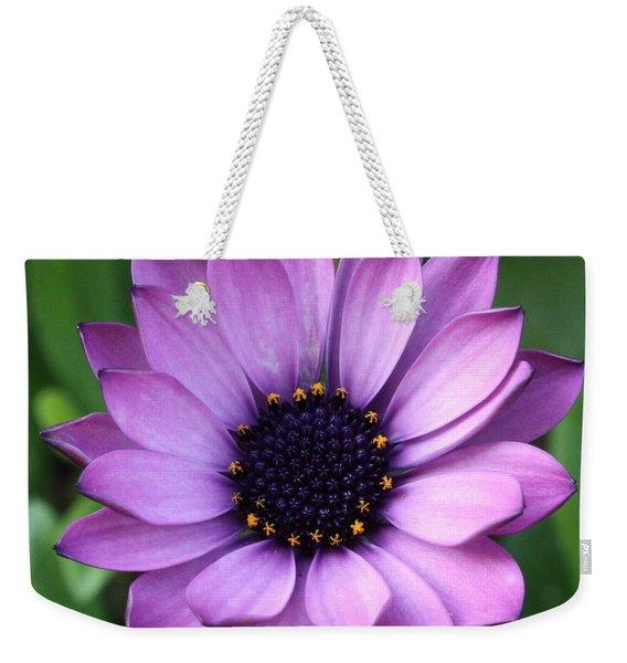 Purple Daisy Square Weekender Tote Bag