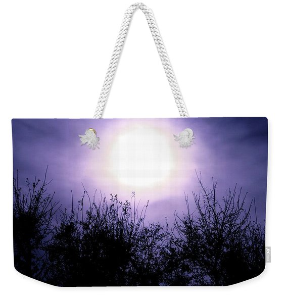 Purple Eclipse Weekender Tote Bag