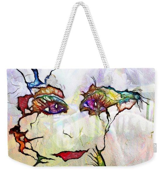 Purple Eyed Nymph Weekender Tote Bag