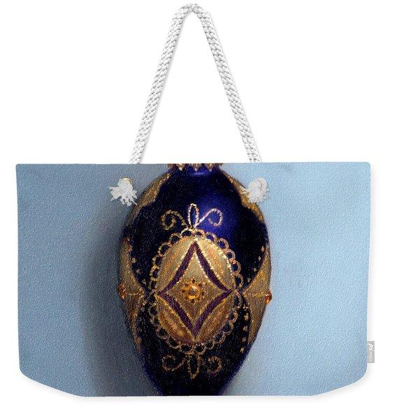 Purple Filigree Egg Ornament Weekender Tote Bag