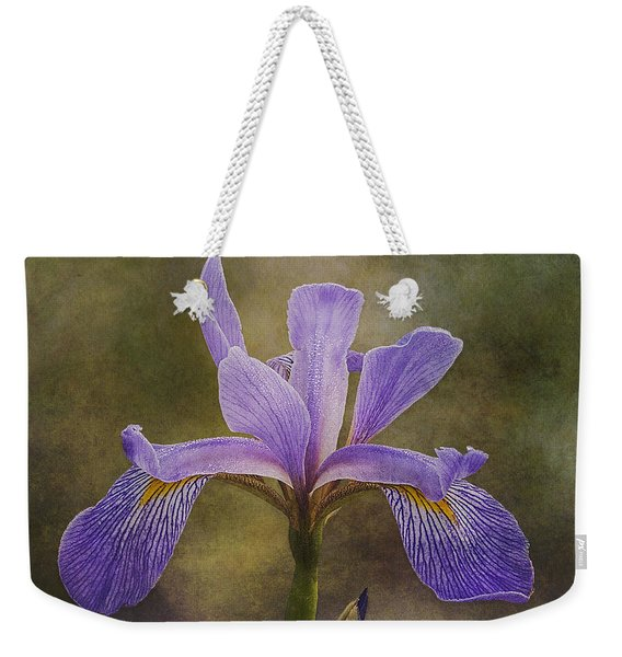 Purple Flag Iris Weekender Tote Bag