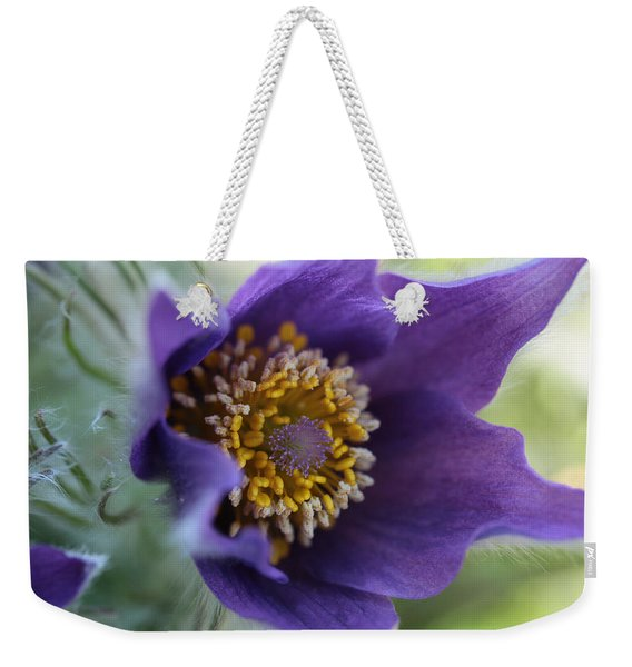 Purple Fleece Weekender Tote Bag