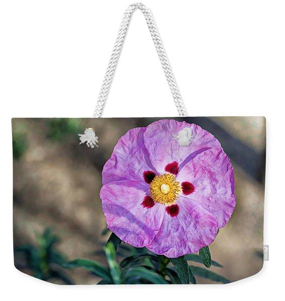 Purple Rockrose Weekender Tote Bag