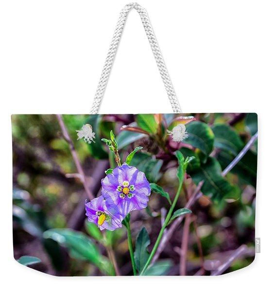 Purple Flower Family Weekender Tote Bag