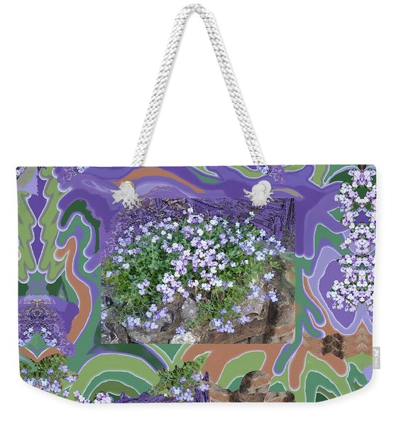 Purple Flower Textured Photo 1028d Weekender Tote Bag