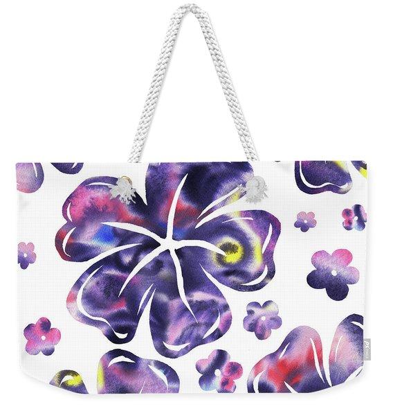 Purple Flowers Dance Weekender Tote Bag