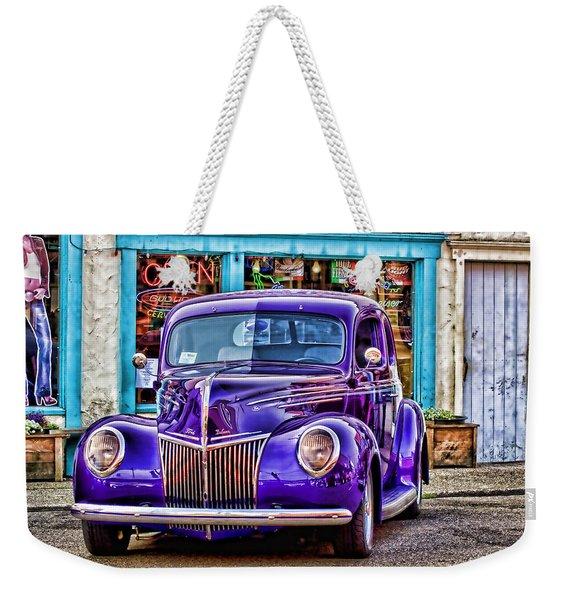 Purple Ford Deluxe Weekender Tote Bag