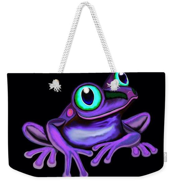 Purple Frog  Weekender Tote Bag