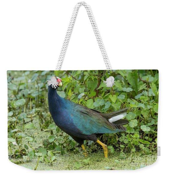 Purple Gallineulle Weekender Tote Bag