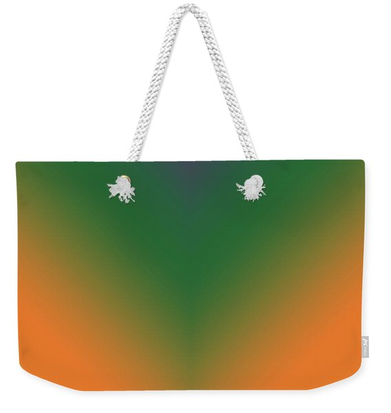 Purple, Green And Orange Weekender Tote Bag