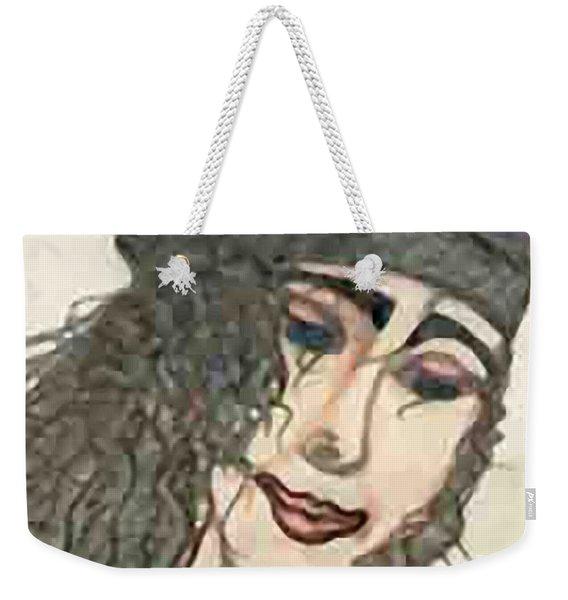 Purple Hat Weekender Tote Bag