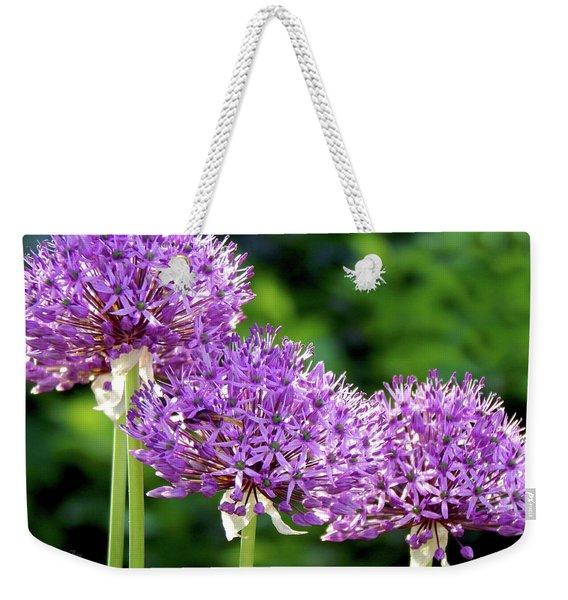 Purple Highlighted Weekender Tote Bag