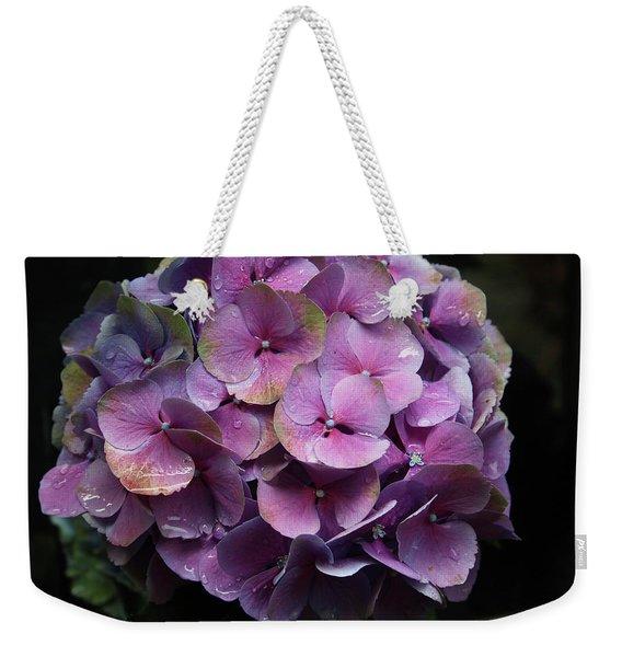 Purple Hydrangea- By Linda Woods Weekender Tote Bag