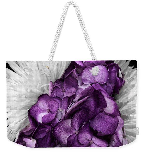 Purple In The White Weekender Tote Bag
