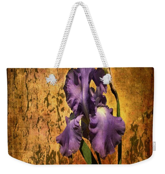 Purple Iris At Sunset Weekender Tote Bag