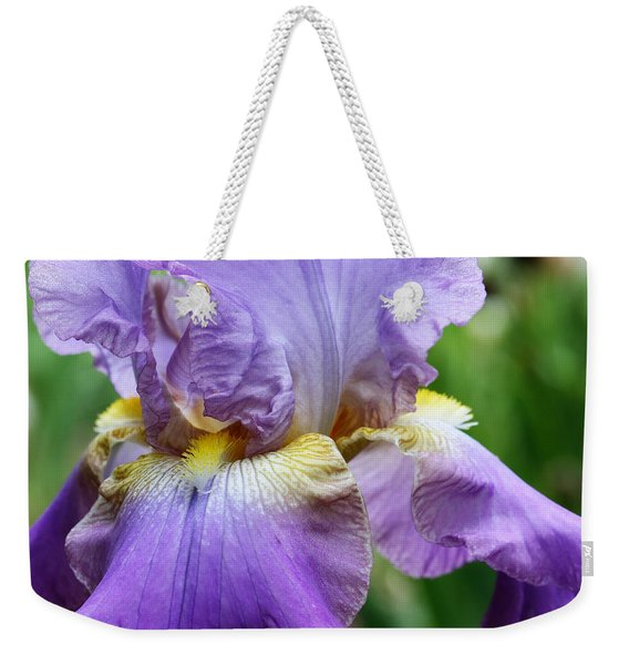 Purple Iris Flower Weekender Tote Bag