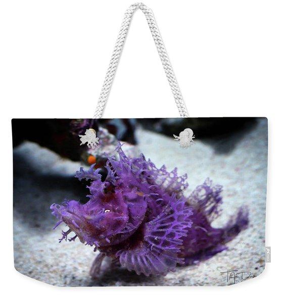 Purple Lace Weekender Tote Bag