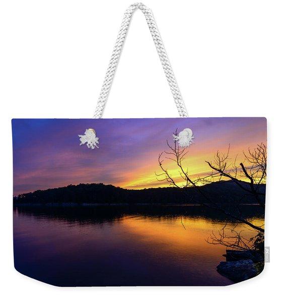 Purple Lake Weekender Tote Bag