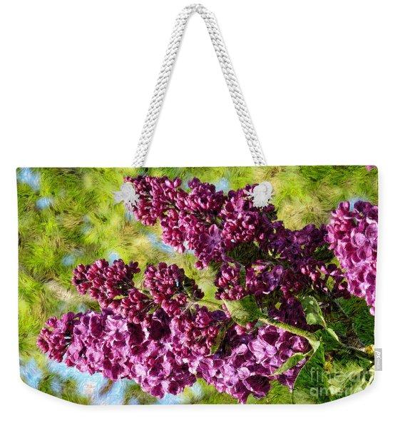 Purple Lilac 1 Weekender Tote Bag