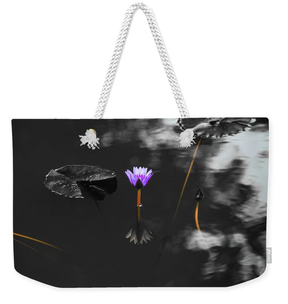 Purple Lily In Black And White Weekender Tote Bag