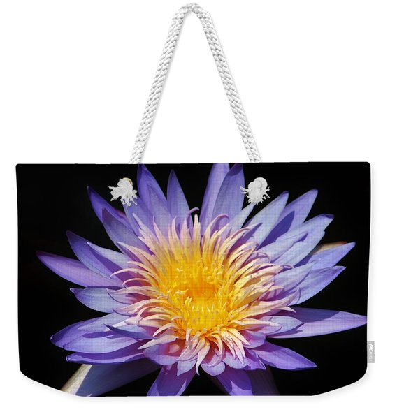 Purple Lotus Weekender Tote Bag