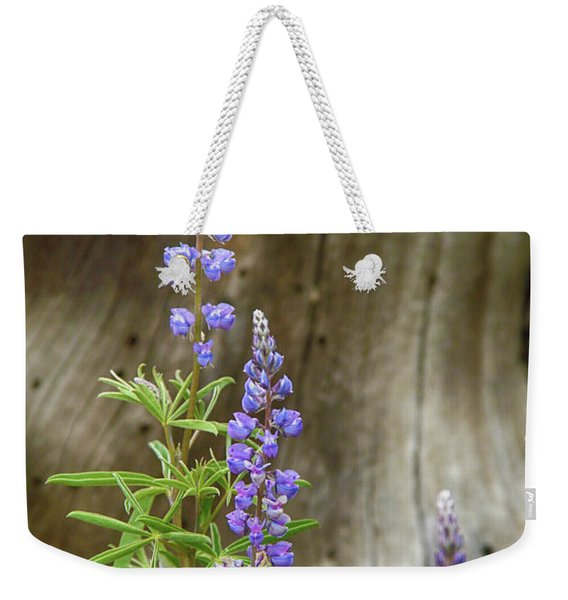 Purple Lupine Weekender Tote Bag