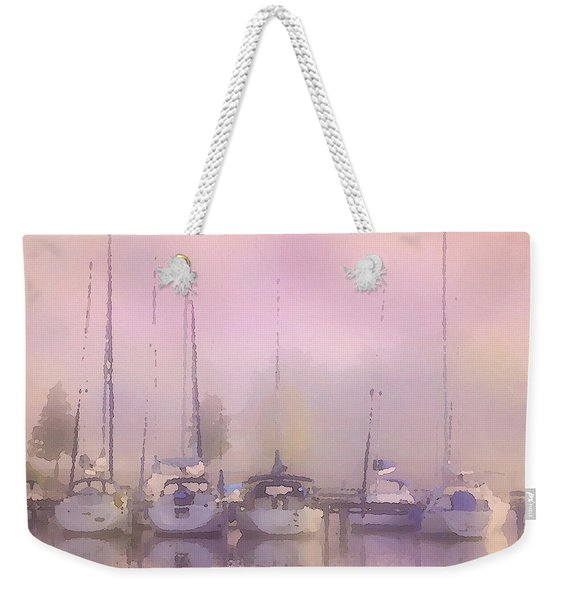 Purple Marina Morning Weekender Tote Bag