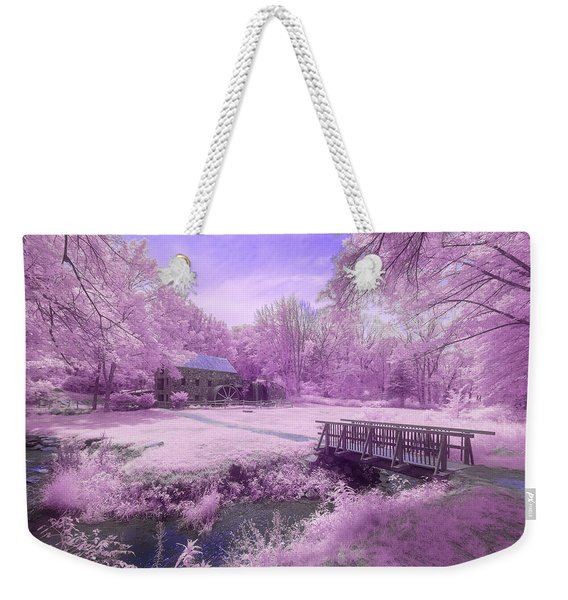 Weekender Tote Bag featuring the photograph Purple Mill by Brian Hale