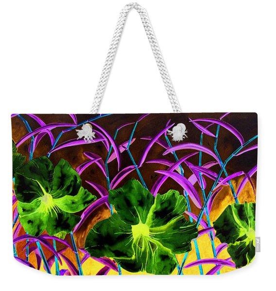 Purple Morning Flower Weekender Tote Bag