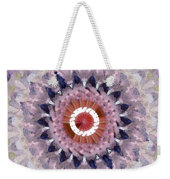 Purple Mosaic Mandala - Abstract Art By Linda Woods Weekender Tote Bag