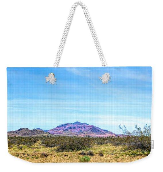 Purple Mountain Panoramic Weekender Tote Bag