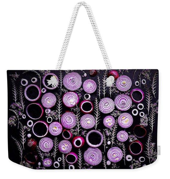 Purple Onion Patterns Weekender Tote Bag