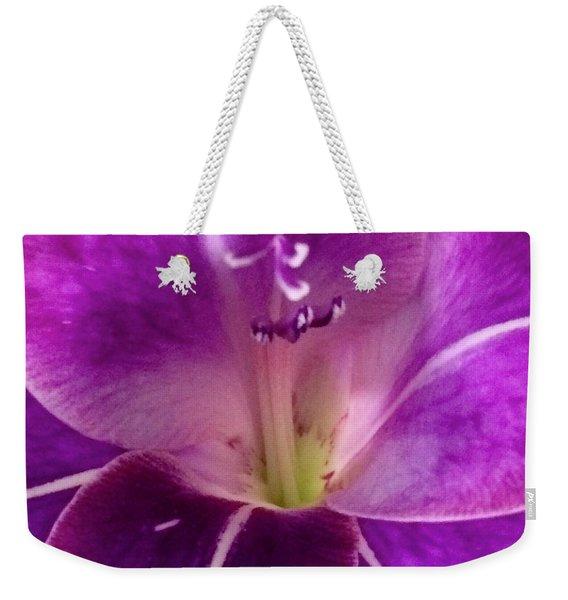 Purple Orchid Close Up Weekender Tote Bag