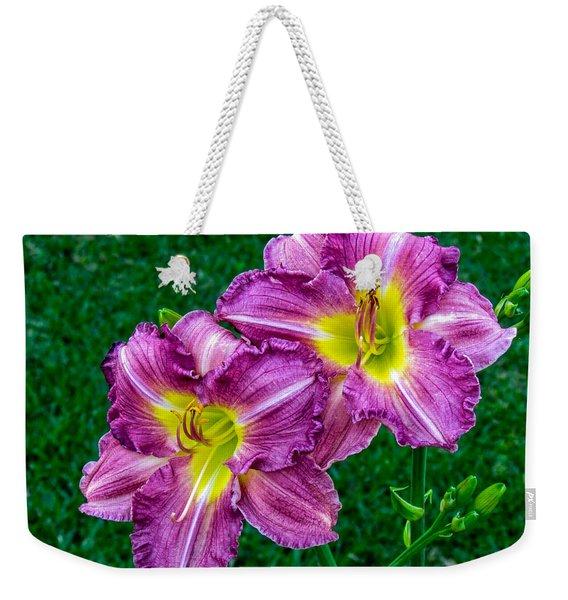 Purple Pair Weekender Tote Bag
