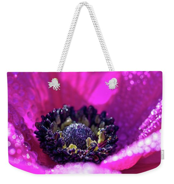 Purple Poppy Flower Weekender Tote Bag