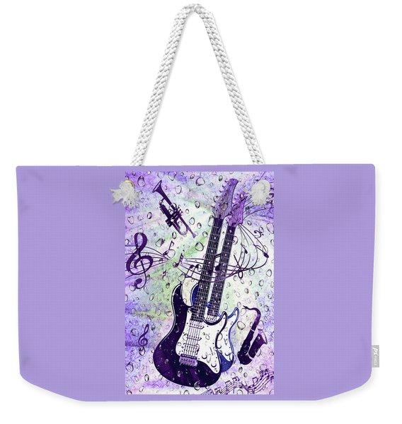 Purple Rain By Kaye Menner Weekender Tote Bag