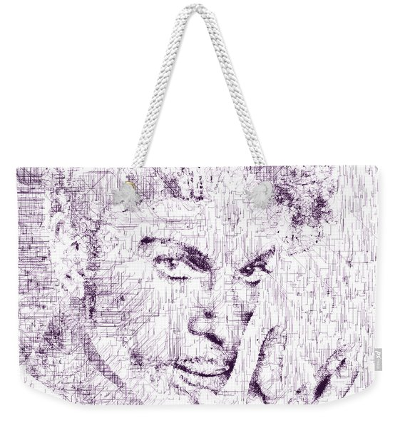 Weekender Tote Bag featuring the digital art Purple Rain By Prince by ISAW Company