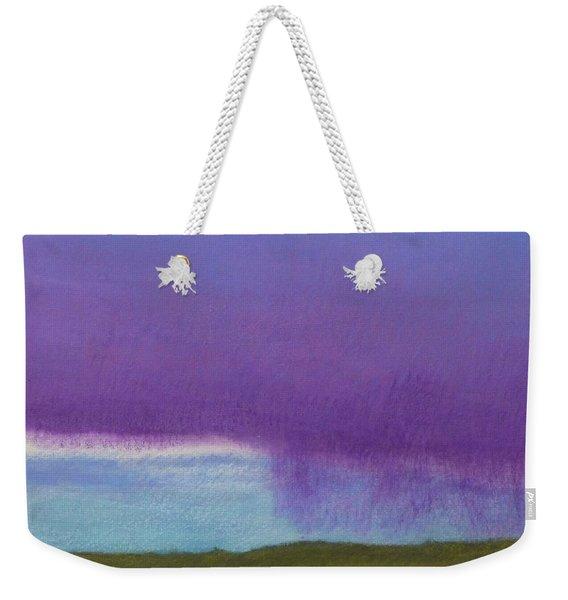 Weekender Tote Bag featuring the painting Purple Rain by Cris Fulton